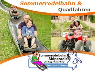 Gleich im Ort finden Sie Die Sommerrodel bahn ein Riesen Spaß für Jung und alt oder fahren Sie Quad bzw. Jeep in dem Parkur der Anlage